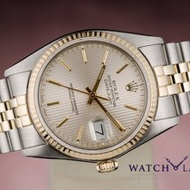 Rolex DATEJUST CHRONOMETER TAPESTRY DIAL GOLD & STEEL