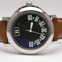 Gérald Genta Rsp.x.10 Sport Retro Grade Jump Hour Black Dial...