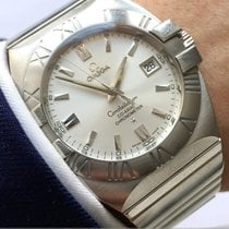Omega Constellation Double Eagle Çelik 40mm Gümüş