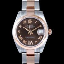Rolex Lady-Datejust Açık kırmızı altın 31mm Kahverengi