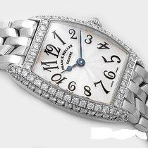 Franck Muller Cintrée Curvex 18k White gold diamond bezel.