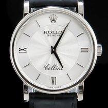 Rolex 34mm Handaufzug 2010 gebraucht Cellini (Submodel) Silber