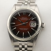 Rolex Datejust Steel 36mm Red No numerals