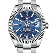 Rolex Sky-Dweller Steel 42mm Blue No numerals United Kingdom