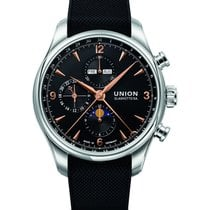 Union Glashütte Belisar Chronograph Steel 44mm Black Arabic numerals