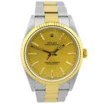 Rolex Oyster Perpetual 34 Gold/Steel 34mm Champagne