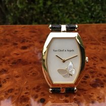 Van Cleef & Arpels Yellow gold Quartz VAN CLEEF & ARPELS PAPILLON TONNEAU pre-owned