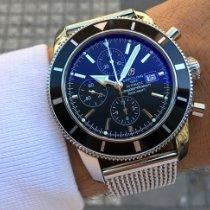 Breitling Superocean Héritage Chronograph Ocel 46mm Černá Bez čísel