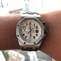 Audemars Piguet Steel Automatic White Arabic numerals 42mm pre-owned Royal Oak Offshore Chronograph