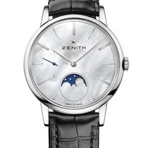 Zenith Steel Automatic Mother of pearl 36mm new Elite Ultra Thin