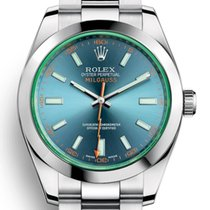 Rolex Milgauss Steel 40mm Blue No numerals