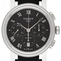 Tissot Bridgeport Zeljezo 42mm Crn