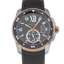 Cartier Calibre de Cartier Diver Steel 42mm Black Roman numerals United States of America, Maryland, Baltimore, MD