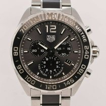 TAG Heuer pre-owned Quartz 43mm Grey Sapphire crystal 20 ATM