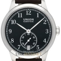 Union Glashütte 1893 Small Second Otel 34,00mm Negru