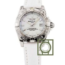 Breitling Galactic 32mm Windrider Mother of Pearl Leather...