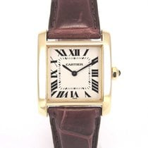 Cartier Tank française 18k gold 1821 with papers