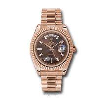 Rolex Day-Date 40 Oro rosa 40mm Marrón