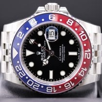 "Rolex GMT- Master ll ""Pepsi"" 40mm Steel Black Dial 126710BLRO"
