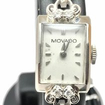Movado White gold 12mm Manual winding pre-owned