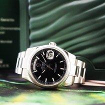 Rolex Day-Date 36 Or blanc 36mm Noir