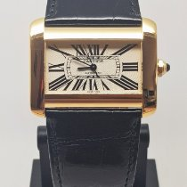 Cartier Tank Divan Yellow gold 38mm Silver Roman numerals
