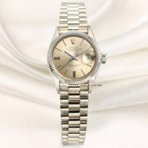 Rolex 6517 Hvitt gull Oyster Perpetual Lady Date 25mm brukt