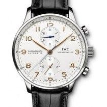 IWC Portuguese Chronograph Stal 41mm Srebrny Arabskie Polska, Krakow