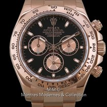 Rolex Rose gold Automatic Black No numerals 40mm pre-owned Daytona