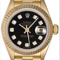 Rolex Lady-Datejust 26mm Schwarz Keine Ziffern