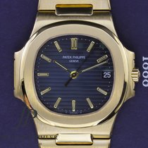 Patek Philippe Yellow gold Automatic Blue No numerals 37mm pre-owned Nautilus