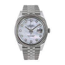 Rolex Datejust Steel 41mm Mother of pearl No numerals United States of America, New York, New York
