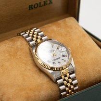 Rolex Datejust Stahl 36mm Weiß Römisch