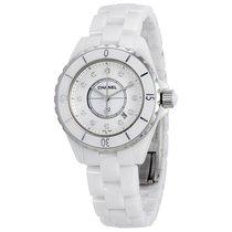Chanel Ladies H1628 J12 White Quartz  Diamonds Watch