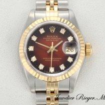Rolex Datejust Stahl Gold 750 Diamanten Automatik Lady Date Just