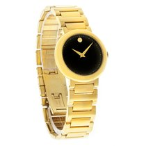 Movado Concerto Series Ladies Gold Tone Swiss Quartz Watch...