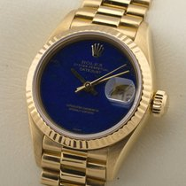 Rolex Lady Datejust Lapis 18K GOLD GELBGOLD DAMENUHR