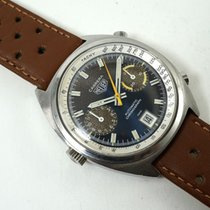 Heuer Carrera Chronograph steel automatic tropical dial c. 1970's