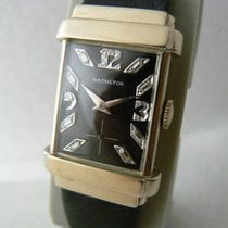 Hamilton Yellow gold Manual winding Black 38mm pre-owned