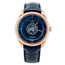 Omega De Ville Central Tourbillon Roségoud 44mm Blauw