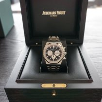Audemars Piguet Royal Oak Chronograph Stahl 41mm Schwarz Keine Ziffern