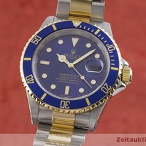 Rolex Submariner Date Χρυσός / Ατσάλι 40mm Μπλέ