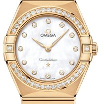 Omega Constellation Quartz Geelgoud 28mm Parelmoer