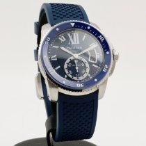 Cartier Calibre de Cartier Diver Gold/Steel 42mm Blue Roman numerals