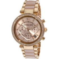Michael Kors Aço 39mm Quartzo Michael Kors MK5896 Rose Gold Dial Ladies Watch novo