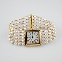 Chanel Mademoiselle Yellow gold 22mm White Roman numerals