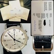 IWC Portugieser Chronograph IW371417 Sehr gut Stahl 41mm Automatik