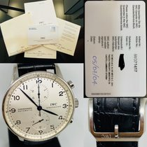 IWC Portuguese Chronograph Stål 41mm Svart Arabiska