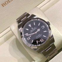 Rolex Explorer Steel 39mm Black Arabic numerals