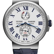 Ulysse Nardin Marine Chronometer Manufacture Steel 45mm White United States of America, New York, Airmont